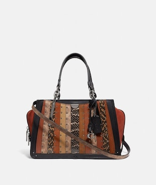 DREAMER WITH SIGNATURE CANVAS PATCHWORK STRIPES AND SNAKESKIN DETAIL