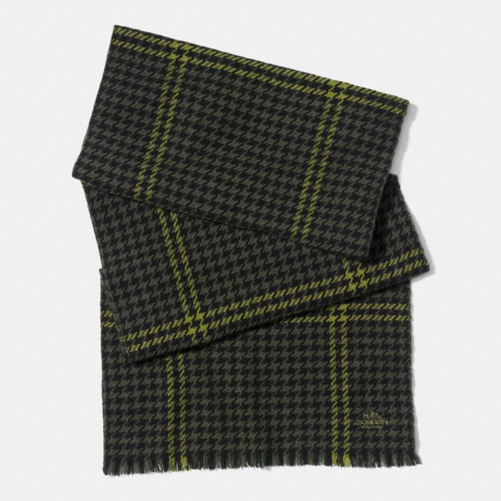 GRID HOUNDSTOOTH SCARF