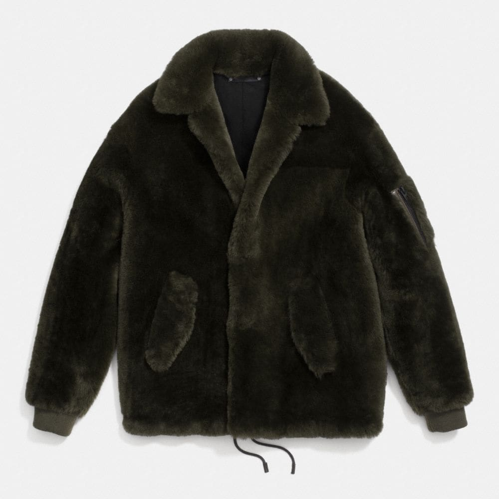 SHEARLING TRACK JACKET