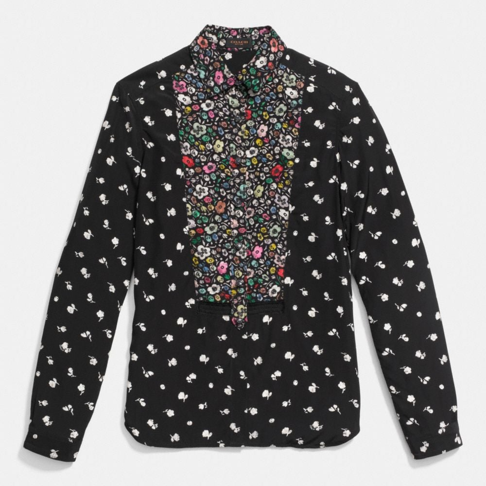 PIECED BLOUSE