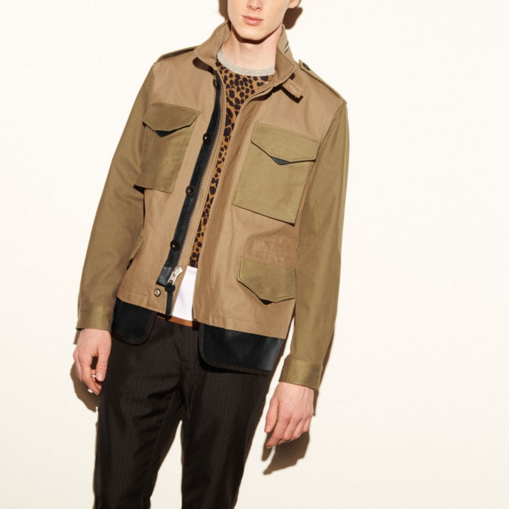 MIXED FABRIC M65 JACKET