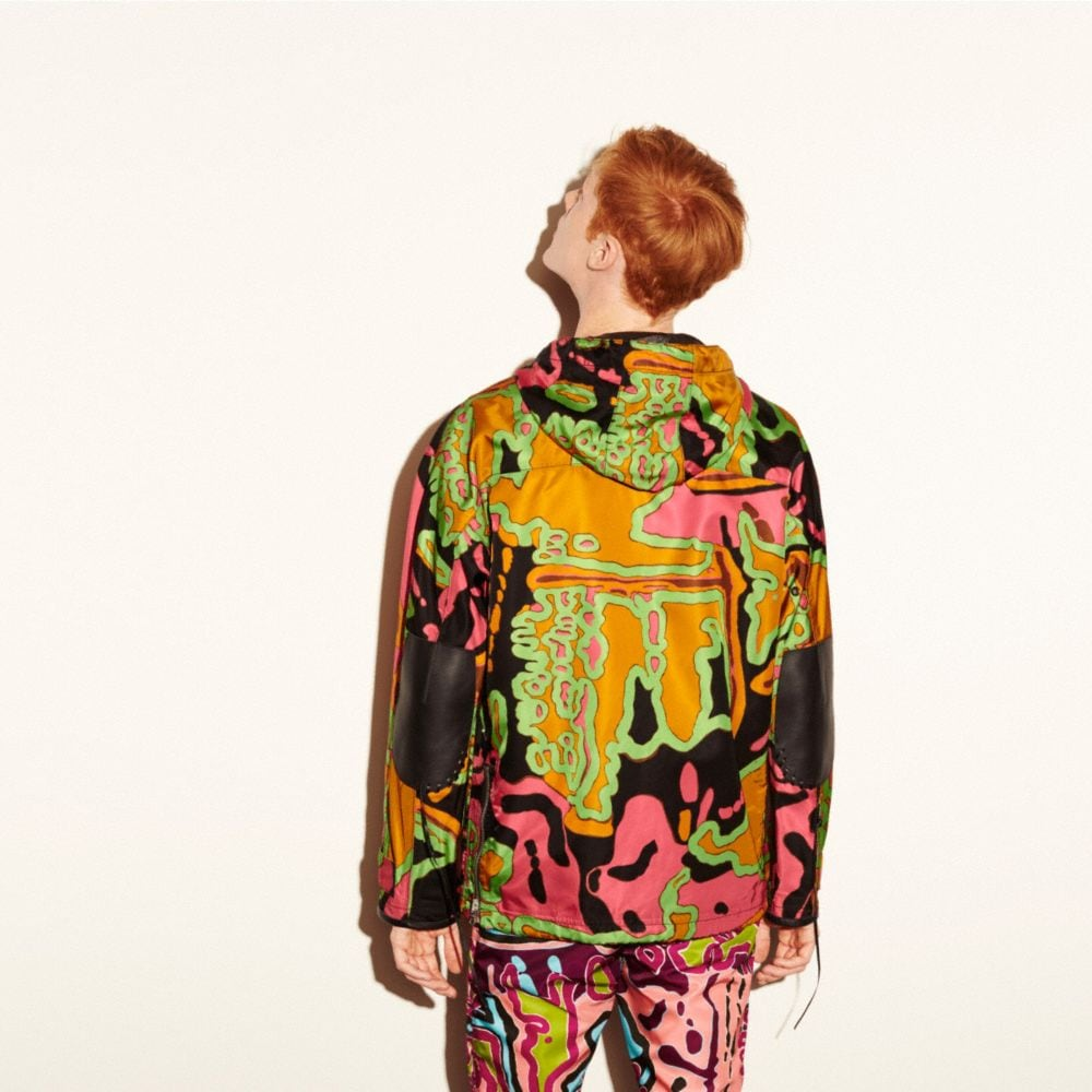 PRINTED PARKA JACKET