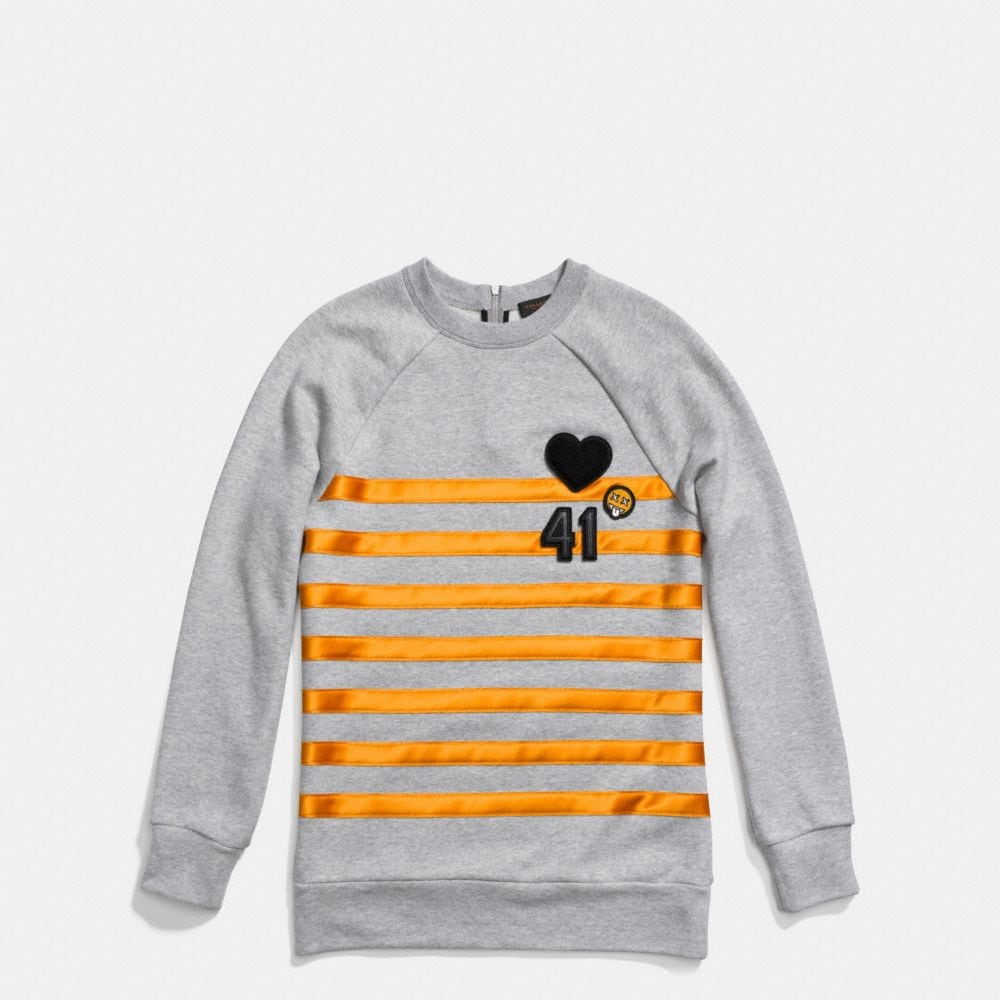 GRAPHIC STRIPE SWEATSHIRT