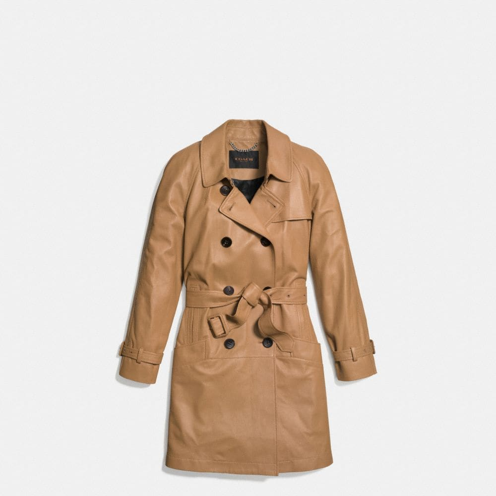 LEATHER DRAPEY TRENCH
