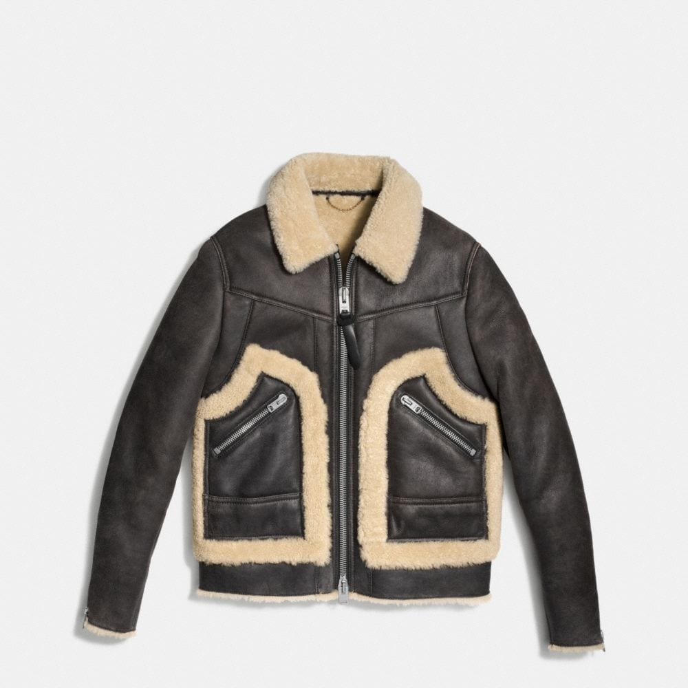 SHEARLING STINGER JACKET