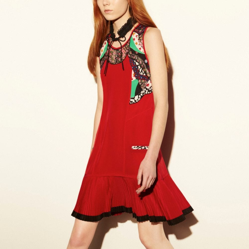 SHORT DRESS WITH APPLIQUE