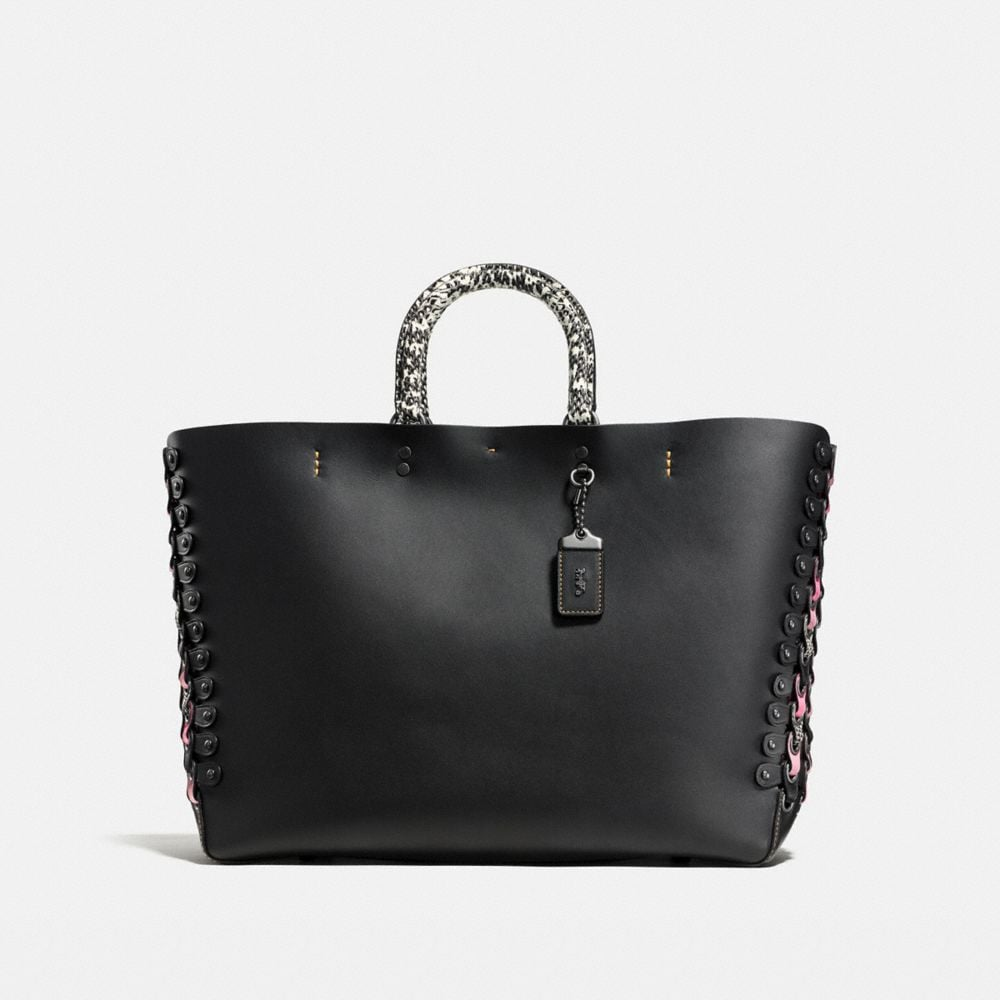 ROGUE TOTE IN EXOTIC COACH LINK LEATHER