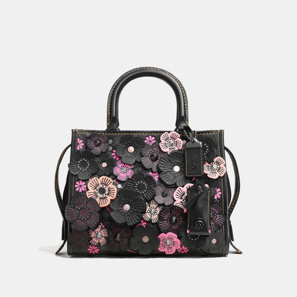 ROGUE 25 IN PEBBLE LEATHER WITH TEA ROSE APPLIQUE