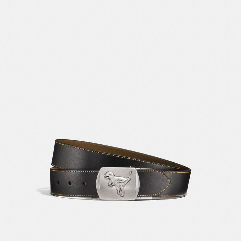 REXY PLAQUE CUT-TO-SIZE REVERSIBLE LEATHER BELT
