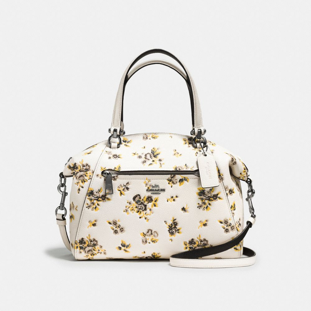 coach usa outlet sale zdur  PRAIRIE SATCHEL IN POLISHED PEBBLE LEATHER WITH FLORAL PRINT