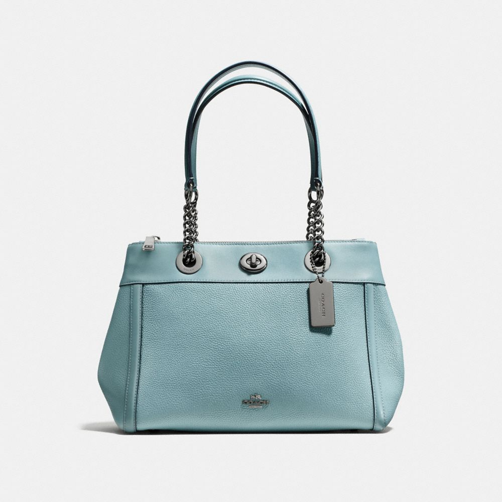TURNLOCK EDIE CARRYALL IN POLISHED PEBBLE LEATHER
