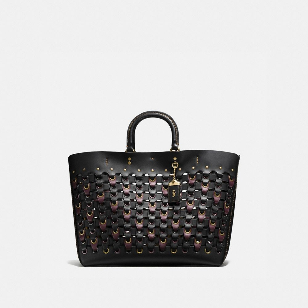 ROGUE TOTE IN COACH LINK GLOVE CALF LEATHER