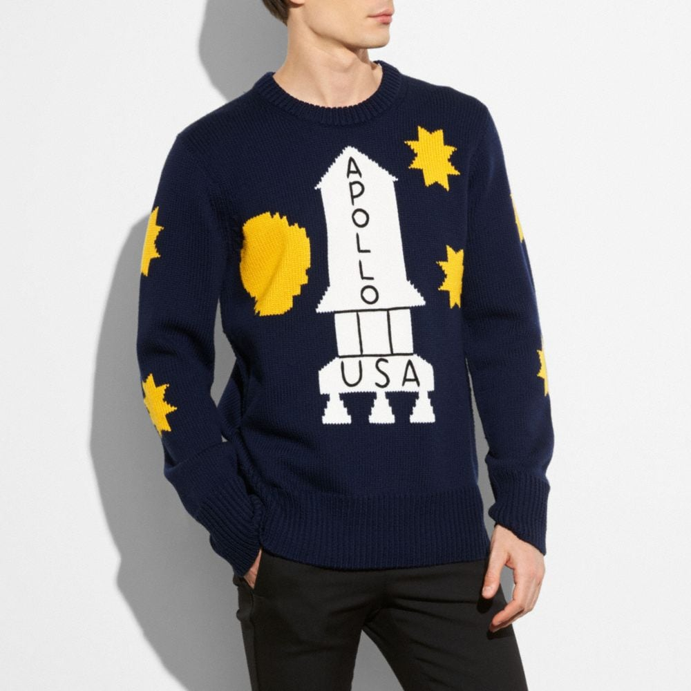SPACE INTARSIA SWEATER