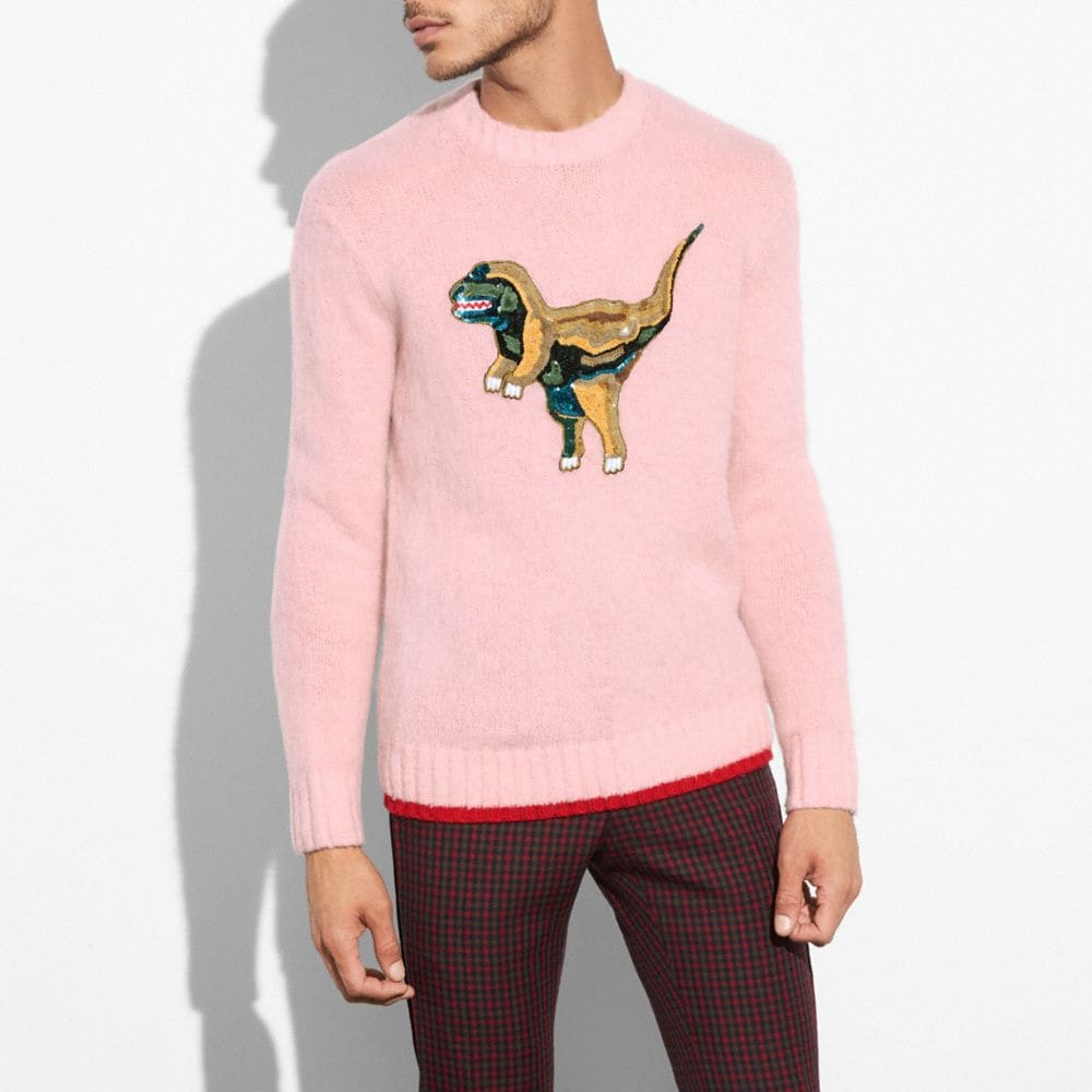 FLUFFY EMBROIDERED REXY SWEATER