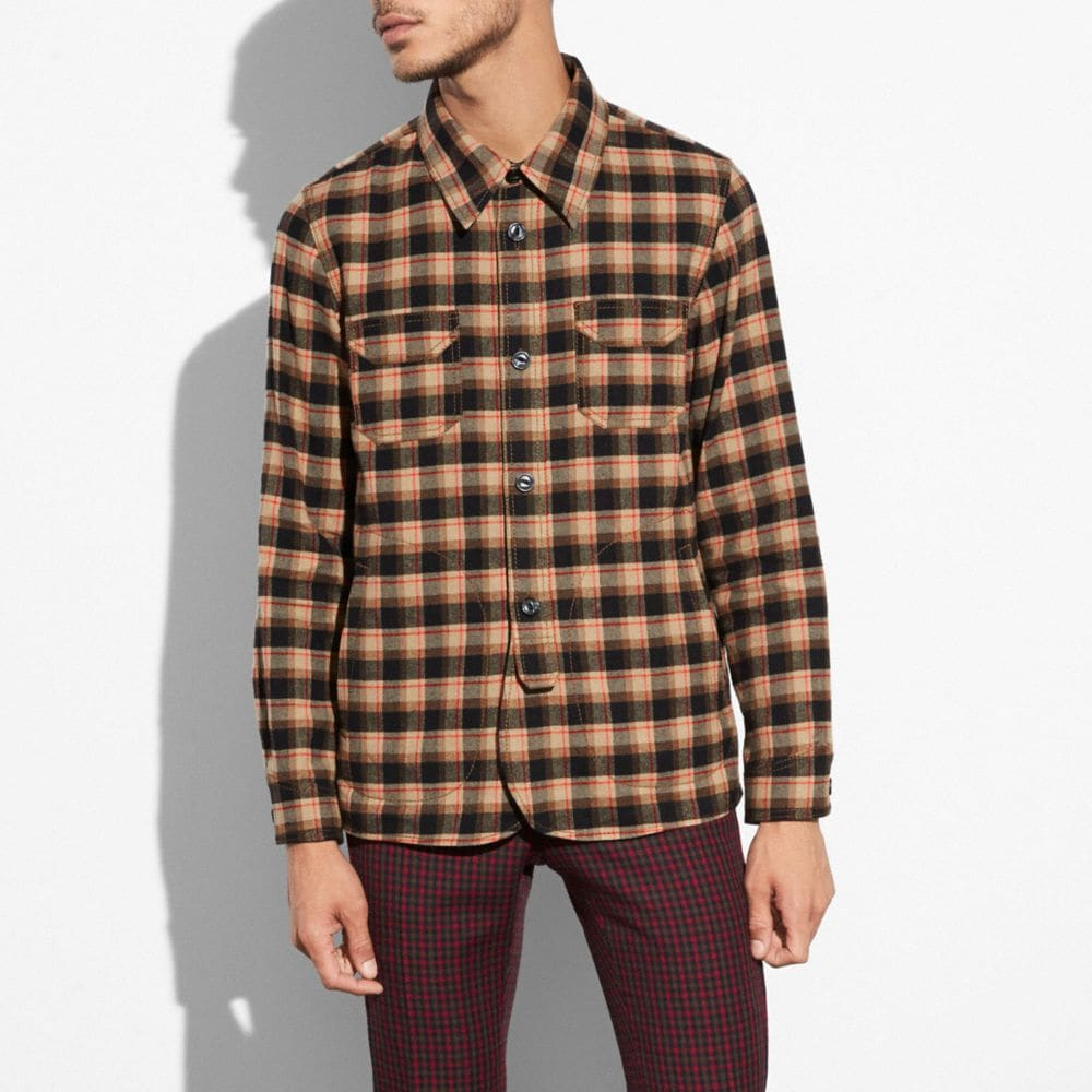 FLANNEL PLAID OVERSHIRT
