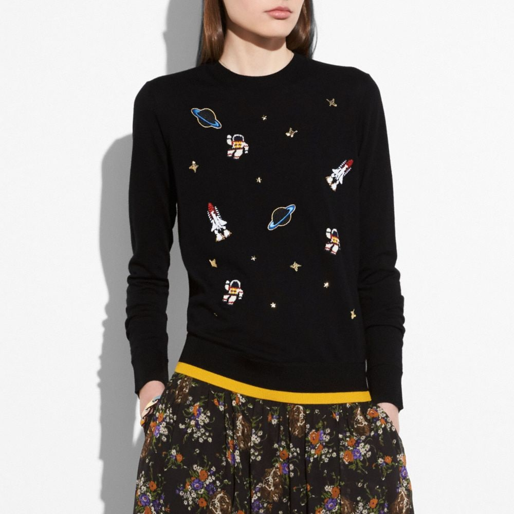 OUTERSPACE CREWNECK SWEATER