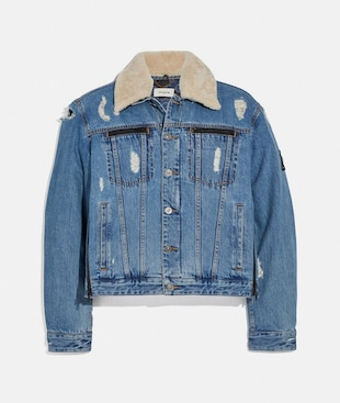 COACH X MICHAEL B. JORDAN DENIM JACKET