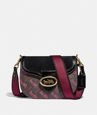 KAT SADDLE BAG WITH HORSE AND CARRIAGE PRINT
