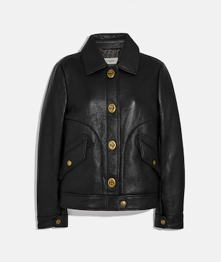 BONDED LEATHER JACKET