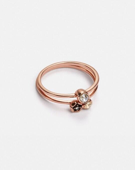 MINI TEA ROSE CLUSTER RING SET