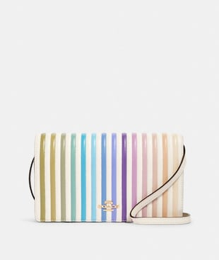 HAYDEN FOLDOVER CROSSBODY CLUTCH WITH OMBRE QUILTING