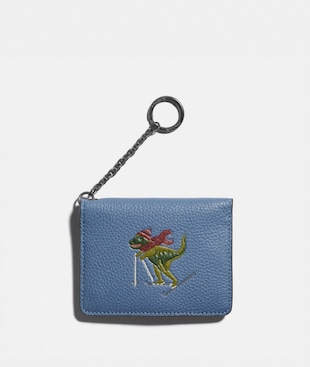 KEY RING CARD CASE WITH REXY