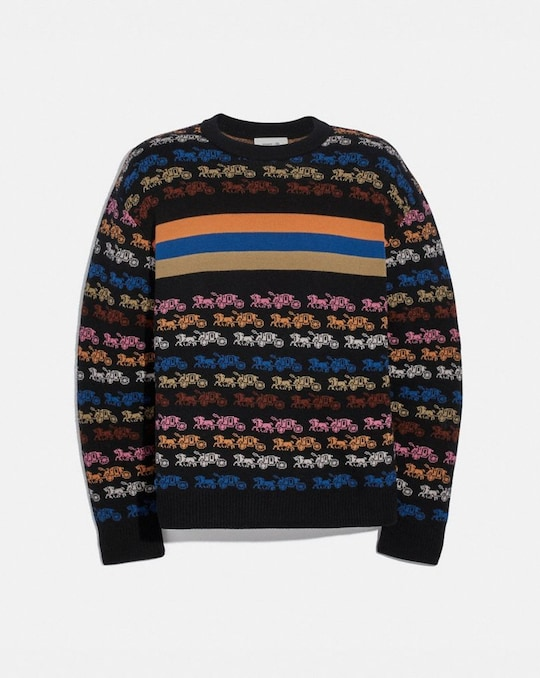 RAINBOW HORSE AND CARRIAGE SWEATER