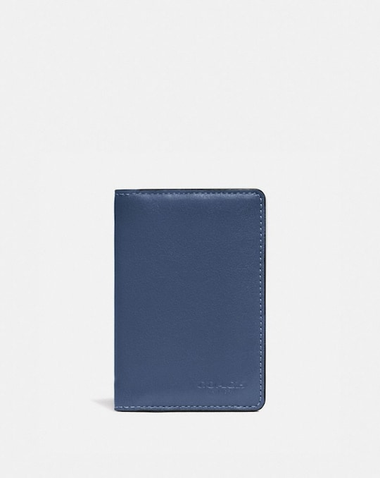 CARD WALLET IN COLORBLOCK WITH SIGNATURE CANVAS DETAIL