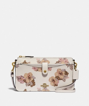 SAC MESSENGER POP-UP NOA AVEC IMPRIMÉ BOUQUET FLORAL