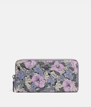 ACCORDION ZIP WALLET WITH HERITAGE FLORAL PRINT