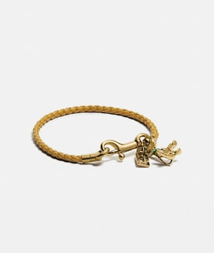 DISNEY X COACH BRAIDED FRIENDSHIP BRACELET WITH PLUTO CHARM