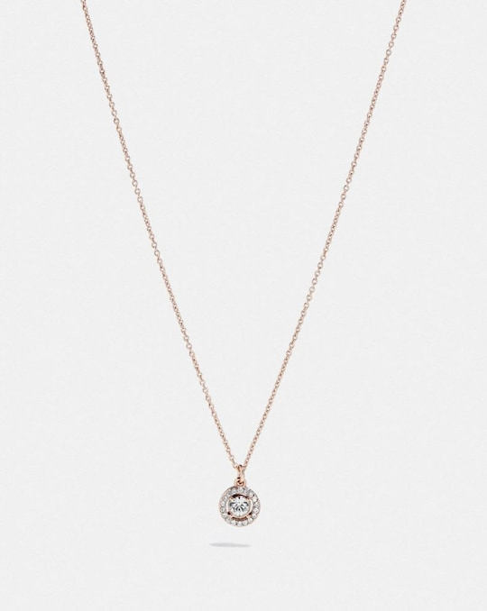 HALO PAVE STUD NECKLACE