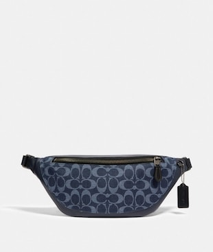 WARREN BELT BAG IN SIGNATURE DENIM