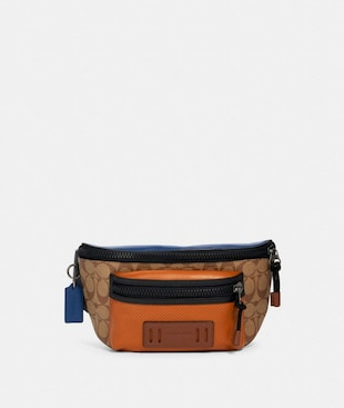TERRAIN BELT BAG IN COLORBLOCK SIGNATURE CANVAS