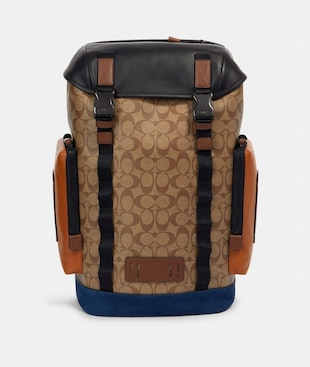 RANGER BACKPACK IN SIGNATURE CANVAS WITH MOUNTAINEERING DETAIL