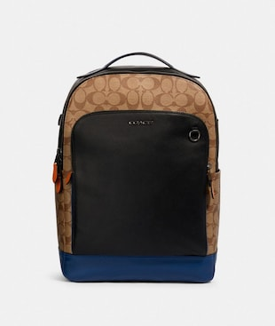 GRAHAM BACKPACK IN COLORBLOCK SIGNATURE CANVAS