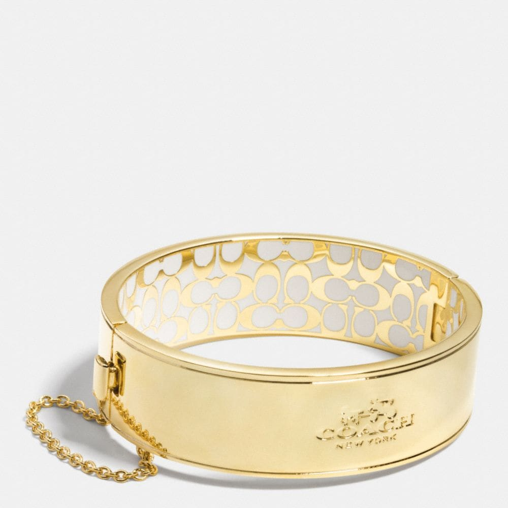 COACH METAL CHAIN HINGED BANGLE
