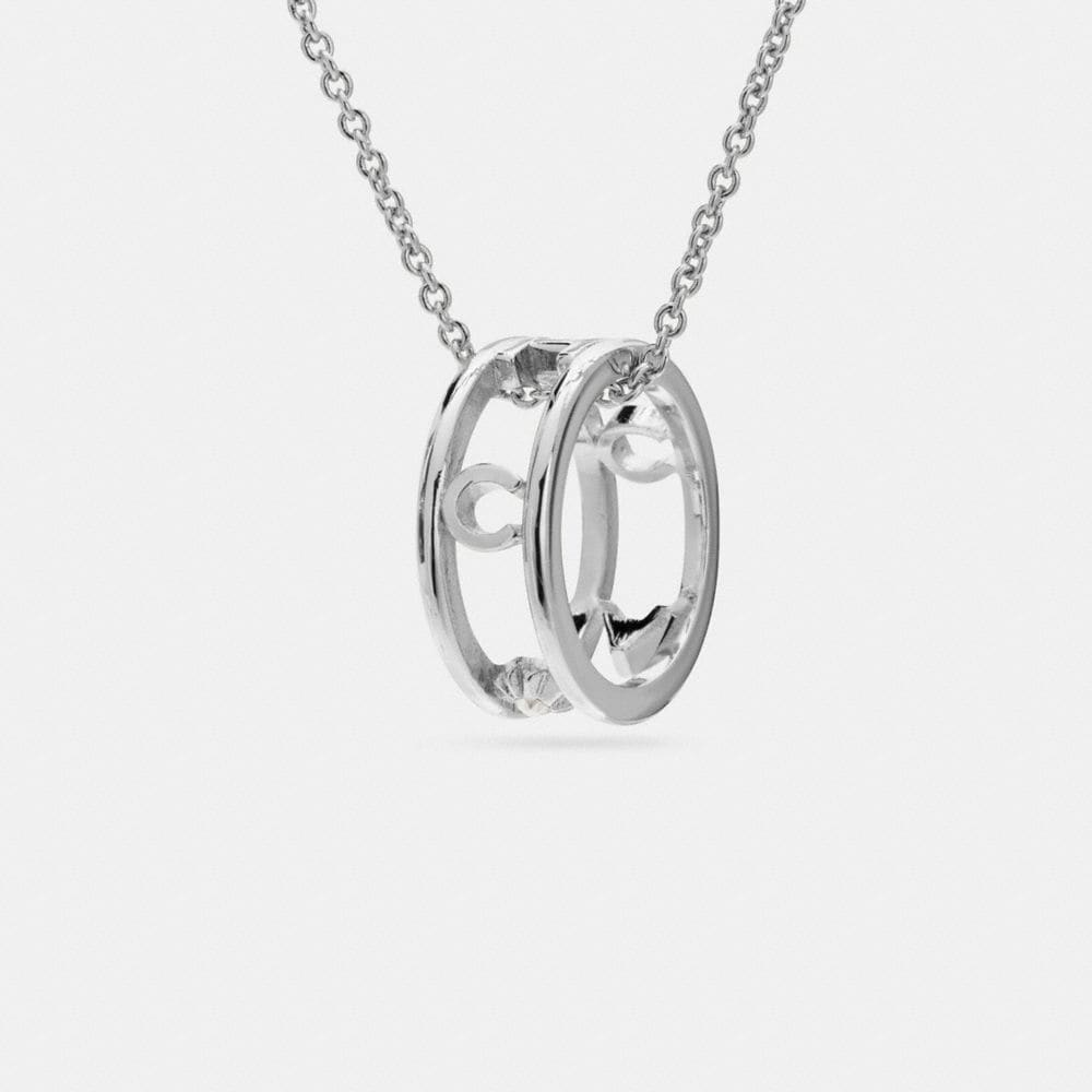 PAVE COACH RING NECKLACE