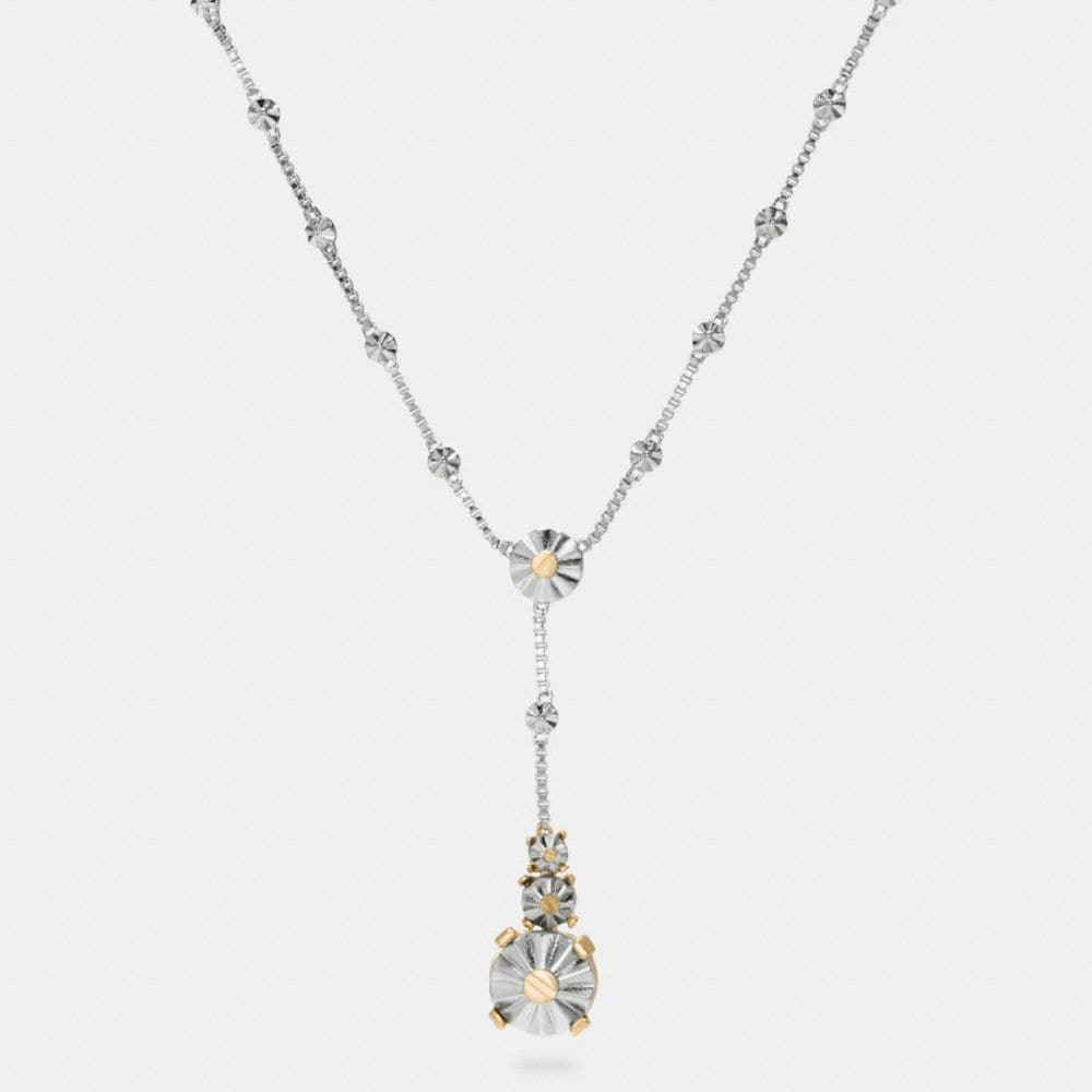 LONG DAISY RIVET DROP NECKLACE