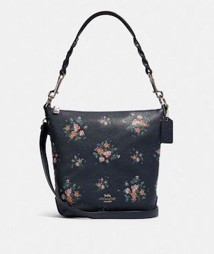 MINI ABBY DUFFLE WITH ROSE BOUQUET PRINT