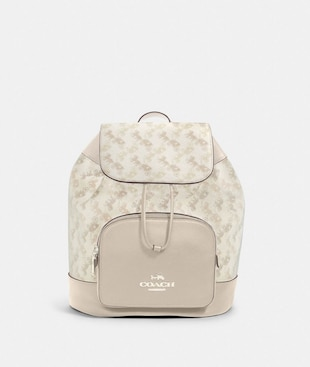 JES BACKPACK WITH HORSE AND CARRIAGE PRINT