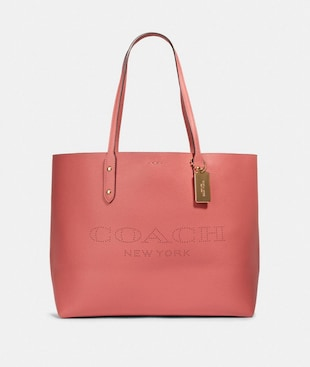 TOWN TOTE WITH COACH PRINT
