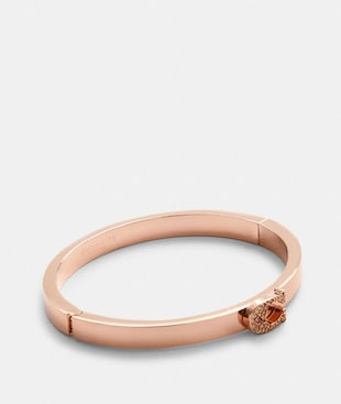 PAVE SIGNATURE HINGED BANGLE
