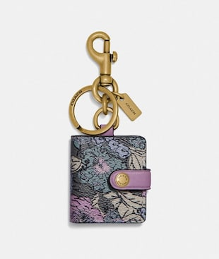 PICTURE FRAME BAG CHARM WITH HERITAGE FLORAL PRINT