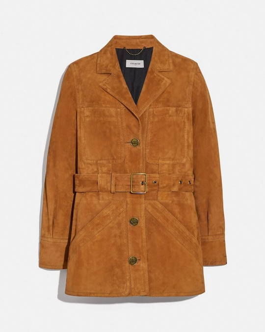 SUEDE TRENCH JACKET