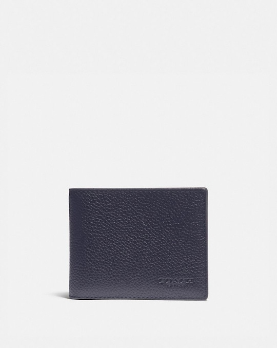 SLIM BILLFOLD WALLET WITH SIGNATURE CANVAS DETAIL