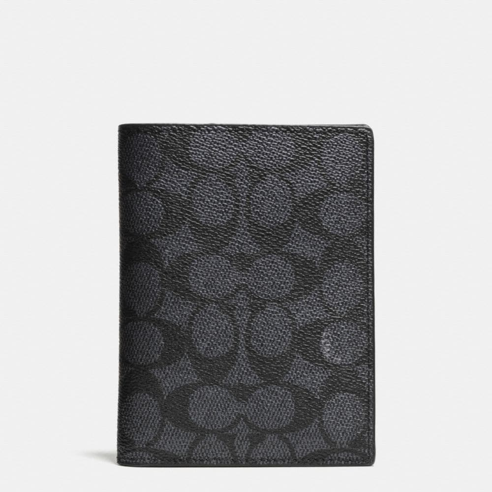 PASSPORT CASE IN SIGNATURE COATED CANVAS