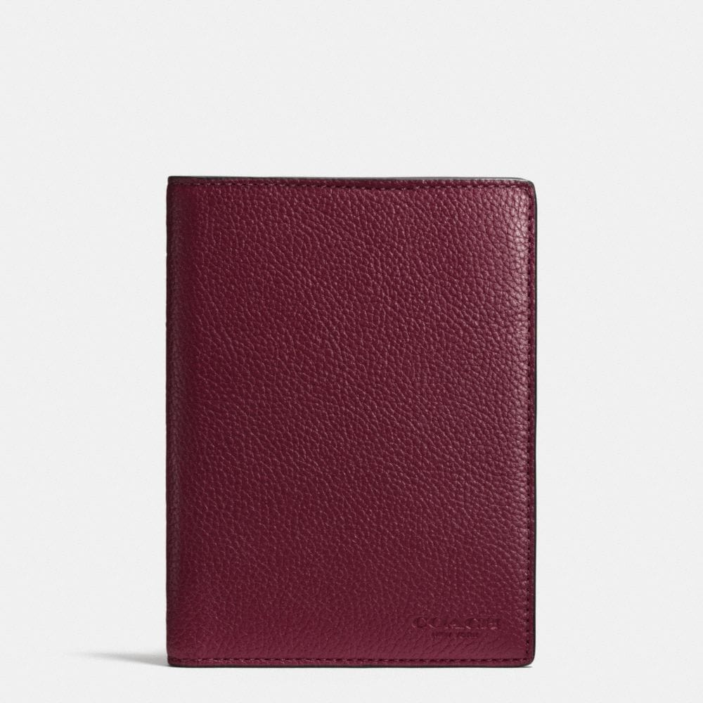 PASSPORT CASE IN REFINED PEBBLE LEATHER