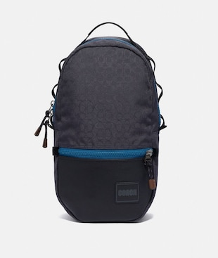 REVERSIBLE PACER BACKPACK IN SIGNATURE CORDURA® FABRIC WITH COACH PATCH