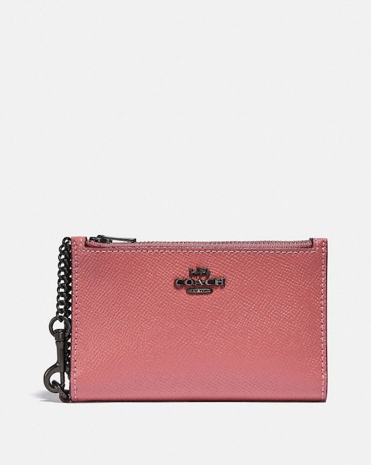 ZIP CHAIN CARD CASE IN COLORBLOCK